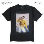 QUEEN×Champion(クイーン×チャンピオン)オフィシャルTシャツ(WEARETHECHAMPIONST-SHIRT)(BLACK)新品TシャツCDDVDブラック黒映画洋画ボヘミアン・ラプソディボヘミアンラプソディフレディマーキュリーあす楽対応
