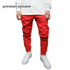 【GRANDSLAMEXCLUSIVE】ナイロンパンツ【RED】NYLONPANTSダンスダンサー衣装無地シンプルメンズレディースユニセックス男女兼用レッド赤あす楽対応