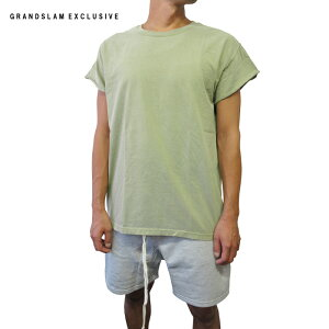 【GRANDSLAMEXCLUSIVE】CUTOFFSLEEVEPLANETEE【カットオフスリーブプレーンTシャツ】【SANDBEIGE】半袖無地S/ST-SHIRTSHORTSLEEVEベージュあす楽対応