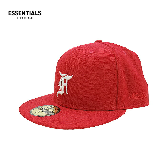 メンズ帽子, キャップ ESSENTIALS FEAR OF GOD NEW ERA( )59FIFTY(RED) FOG JERRY LORENZO