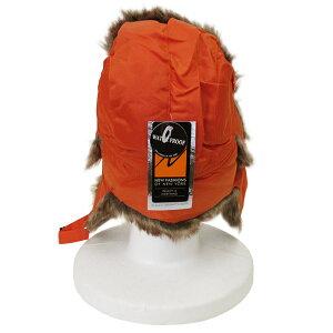 NEWHATTAN【ニューハッタン】フライトキャップ【ORANGE】6007FLIGHTCAPパイロットキャップメンズ防寒ファー付ロシア帽ロシア帽子アウトドアウォータープルーフオレンジあす楽対応