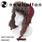 NEWHATTAN【ニューハッタン】フライトキャップ【BURGUNDY】6007FLIGHTCAPパイロットキャップメンズ防寒ファー付ロシア帽ロシア帽子アウトドアウォータープルーフバーガンディあす楽対応