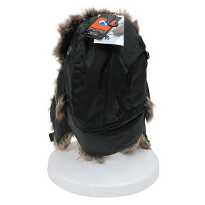 NEWHATTAN【ニューハッタン】フライトキャップ【BLACK】6007FLIGHTCAPパイロットキャップメンズ防寒ファー付ロシア帽ロシア帽子アウトドアウォータープルーフブラックあす楽対応
