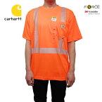 U.S.A.企画Carhartt(カーハート)リフレクターTシャツ(FORCEHIGH-VISIBILITYS/ST-SHIRTS)100495/824/BRITEORANGE)トップスレギュラーフィット海外限定海外企画定番人気オレンジあす楽対応