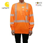 U.S.A.企画Carhartt(カーハート)リフレクターロングスリーブTシャツ(FORCEHIGH-VISIBILITYS/ST-SHIRTS)100496/824/BRITEORANGE)トップス長袖メッシュ素材レギュラーフィット海外限定海外企画定番人気オレンジあす楽対応