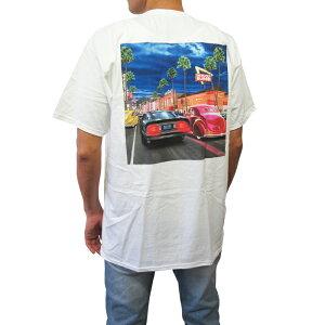 カリフォルニア直輸入IN-N-OUTBURGER【インアウトバーガー】プリントTシャツ【2018/HollywoodCruising】【WHITE】半袖プリントオフィシャルアイテムオフィシャルライセンスTシャツ新品正規ホワイト白あす楽対応