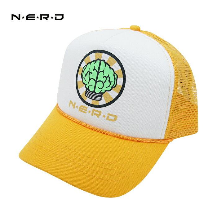 メンズ帽子, キャップ N.E.R.D OFFICIAL TRUCKER CAP (YELLOWWHITE) PHARRELL WILLIAMS