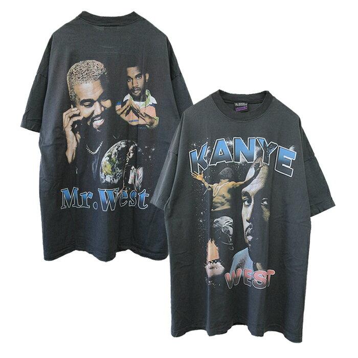 トップス, Tシャツ・カットソー effnclothing KANYE WEST GRAPHIC T-SHIRT(CHARCOAL GRAY) T RAP TEE RAPTEES HIPHOP