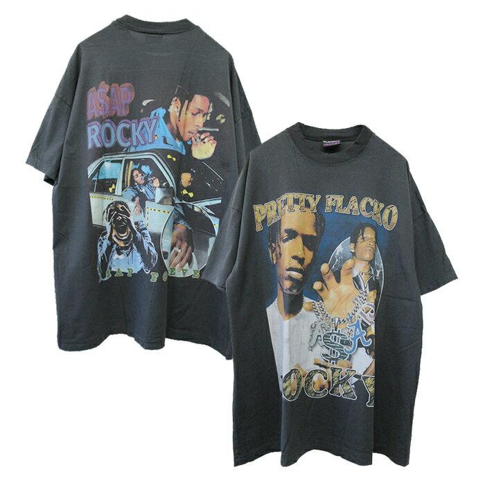 トップス, Tシャツ・カットソー effnclothing ASAP ROCKY GRAPHIC T-SHIRT(CHARCOAL GRAY) T RAP TEE RAPTEES HIPHOP
