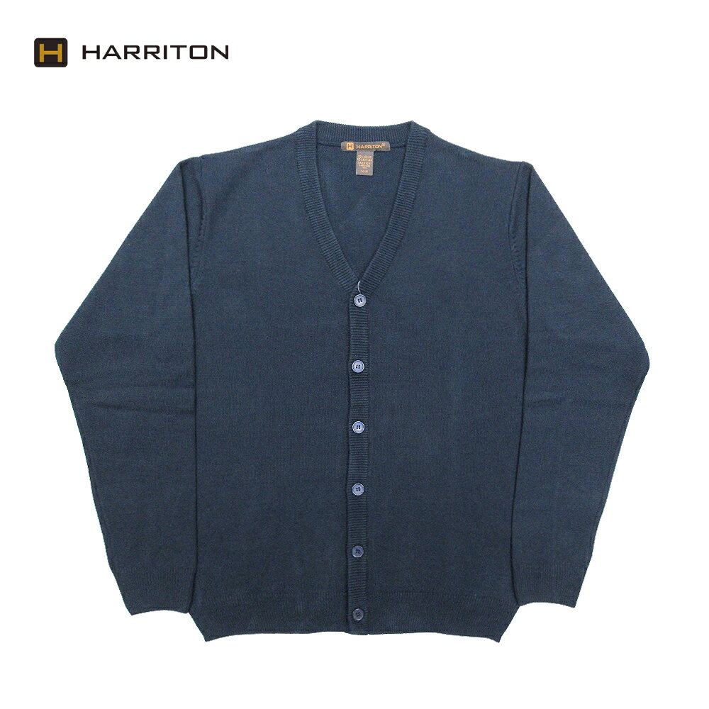 トップス, カーディガン HARRITON V-Neck Acrylic Cardigan DARK NAVY