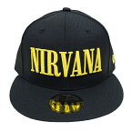 NEWERA�ڥ˥塼�����59FIFTY����åס�NIRVANA/�˥�������ʡۡ�BLACK/YELLOW��NEWERACAPSTREET����å�˹�ҥ��ȥ꡼�ȥ١����ܡ��륦�����Ǻ���󥹥��󥵡�����KurtCobain�����ȡ����С���GRUNGE����󥸥֥�å������?�������б�