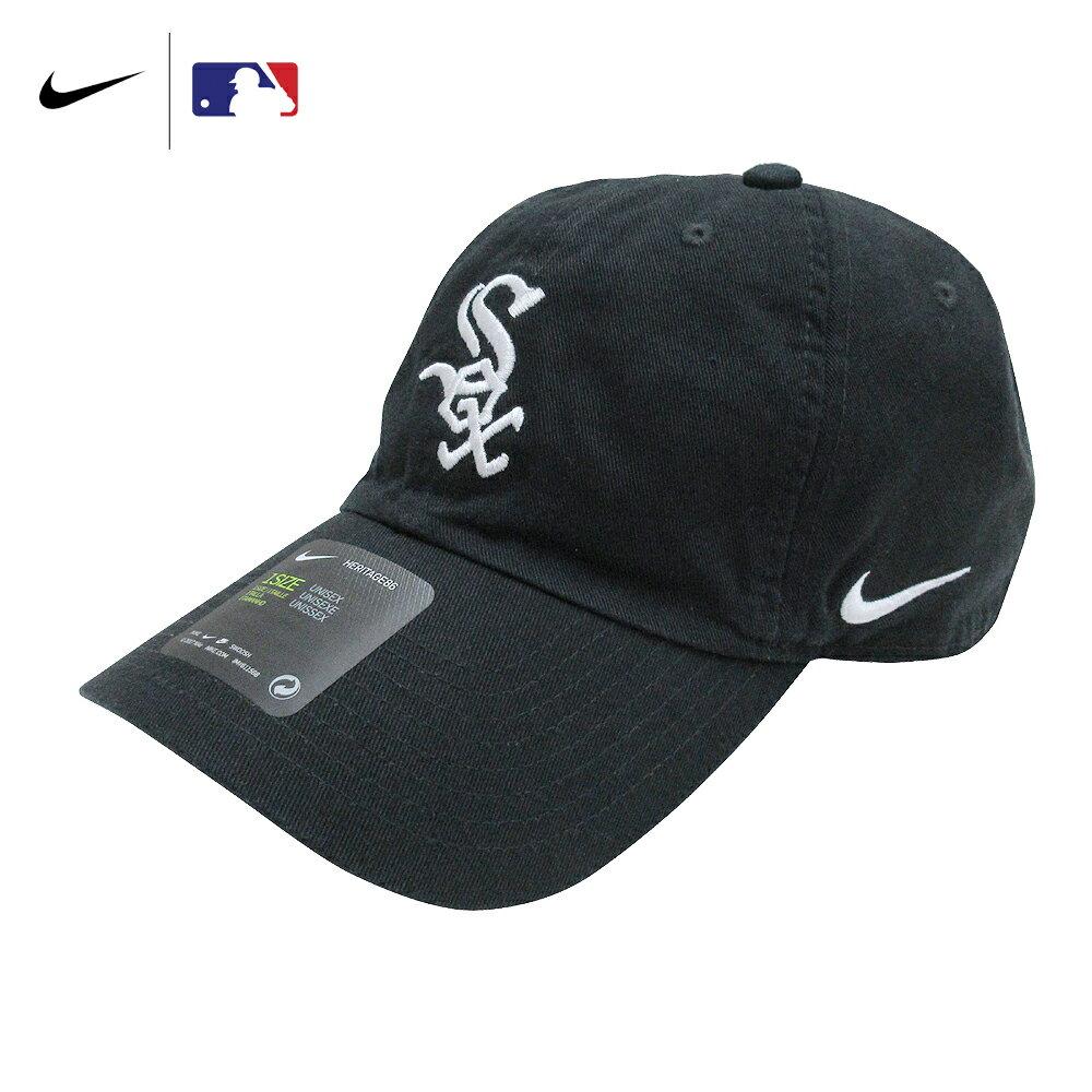 メンズ帽子, キャップ  NIKE MLB SWOOSH CAP CHICAGO WHITE SOX BLACK DRI-FIT HERITAGE 86