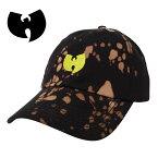 WU-TANGFOREVERブリーチタイダイキャップ【BLACK】帽子ロゴ刺繍コットンキャップストラップバックキャップメンズレディース男女兼用HIPHOPヒップホップあす楽対応
