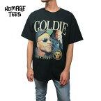 HOMAGETEES【オマージュティーズ】プリントTシャツ【GoldieTee】【BLACK】半袖新品ゴールディーブラックasaprockyあす楽対応