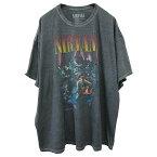 NIRVANA(ニルヴァーナ)オーバーサイズTシャツ(NirvanaUnpluggedT-Shirt)(VINTAGEGRAY)新品半袖メンズレディースオーバーサイズビックサイズビッグTビンテージ加工ヴィンテージ加工あす楽対応レターパック対応