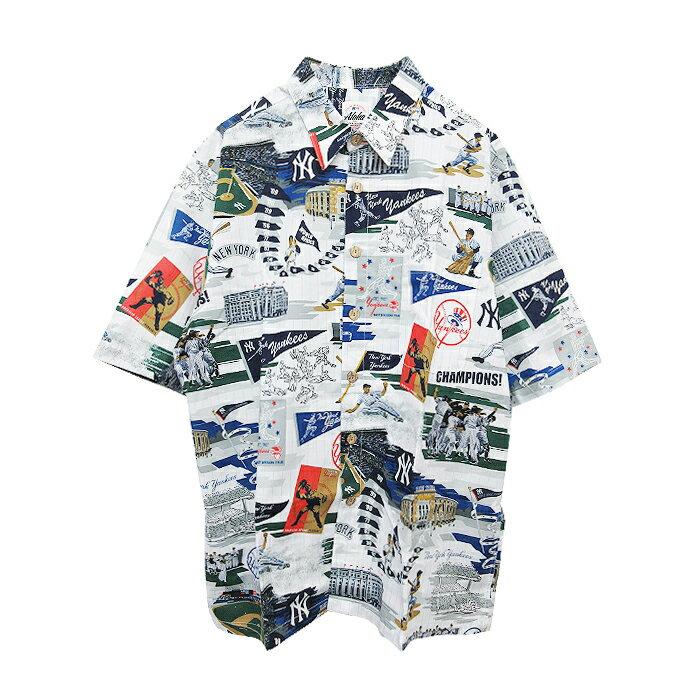 トップス, カジュアルシャツ REYN SPOONER()NEW YORK YANKEES ALOHA SHIRTS( )(WHITE)