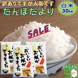 30kg お米 白米 安い (10kg×3袋) 訳あり ブレンド米 送料無料 『国内産たんぼだより(白米10kg×3)』【RCP】