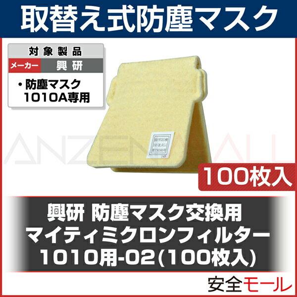 () 興研 防塵マスク用 交換マイティミクロンフィルター(1010A用) (100枚) (粉塵/作業用/医療用)(防じんマスク)