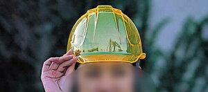 優れた蛍光性能を発揮する特殊素材ヘルメット/防災/安全帽/保護帽/防災グッズ/防災用品/災害備...