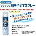 熱中症対策用品 冷感スプレー アイスノン 頭を冷やすスプレー...