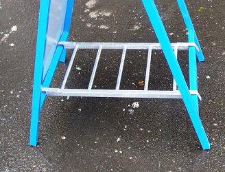 工事用はしご型看板サポート金具看板用ウエイト