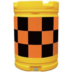 AZクッションドラム(PE製)赤/白工事保安・安全用品約580×835mmAZC-001(大型商品)