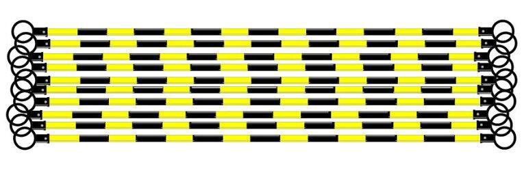 コーンバーコーン用バー黒黄反射工事保安用品10本