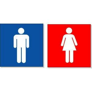 トイレ表示 ピクトサイン【送料200円 ゆうパケット対応】トイレ150P1 男女各1枚 150×150