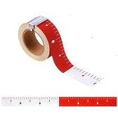 赤白テープ 丁張用ロッド 50mm幅 25m 赤白30cmピッチ エコ ピタッとロッド HPR530