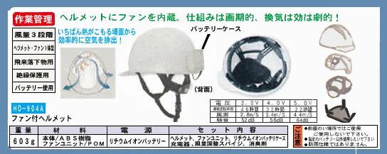 熱中対策グッズ 【HO-904A ファン付ヘルメット】