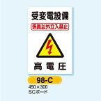 電気安全標識 受変電設備… ▲ 高電圧