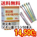 防災用イオン歯ブラシ50本入防災用品/衛生用品送料無料 205801
