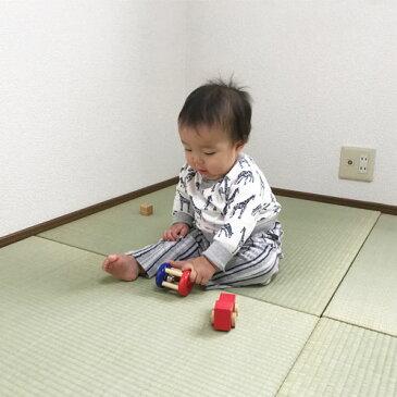 置き畳 琉球畳 ユニット畳 【ちょこんと ケナフ】ベビーベッド を使わず赤ちゃんと添い寝☆イ草 3畳6枚セット ラグ い草 畳 日本製 国産 tatami 畳 夏用ラグ フロア畳 半畳 薄い
