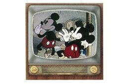 送料無料 ディズニーキャラクター ミニタオル ミラーテレビ ミッキーマウス ミッキー アニメ 映画 ディズニー タオル たおる タオルハンカチ ハンドタオル たおる ハンカチ レトロ ギフト 贈り物 プレゼント かわいい