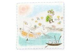【送料無料】【ムーミン】【Moomin】ミニタオル【海辺でゆったり】【リトルミイ】【ミイ】【アニメ】【絵本】【75th】【75周年】【タオル】【たおる】【ハンドタオル】【ハンカチ】