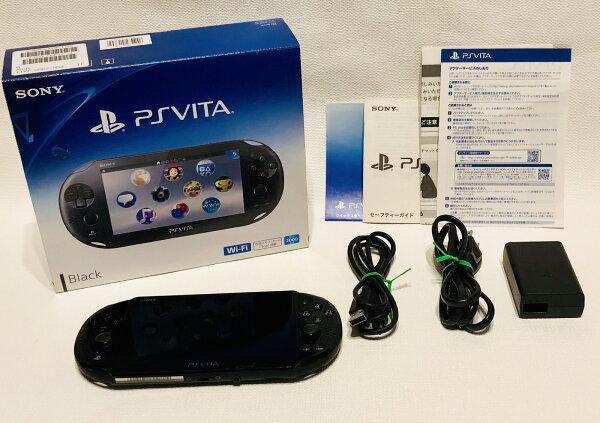 中古品美品  PlayStationVitaWi-Fiモデルブラック(PCH-2000ZA11)   内容:本体ACアダプター