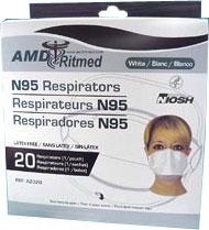 米国労働衛生研究所の定める基準をクリアした感染予防衛生マスク。即納!!メディコムN95マスク...