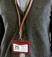 【メール便選択可能】ダヤンロゴ パス&IDホルダー(ネックベルトは付属無し) (赤) 本革 わちふぃーるど ダヤン ダヤングッズ 猫雑貨