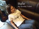 《メール便OK》【Stafie 57】ドット白クマ 半袖 Tシャツ/白...
