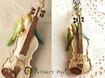 【PalnartPoc/パルナート・ポック】愛の挨拶ネックレス/バイオリンと二羽の小鳥のネックレス115【楽ギフ_包装】【RCP】【日本製】【ヴァイオリン】【インコ】【楽器】【BroughSuperior/ブラフシューペリア】