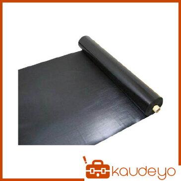 ワニ印 塩ビ養生シート 黒 厚み0.15MM 1M×50M 003080 8117