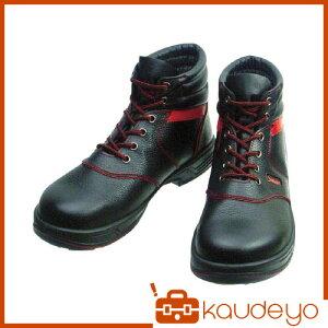 シモン安全靴編上靴SL22−R黒/赤24.5cmSL22R24.53043