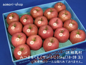 JA相馬村【みつまるくん】蜜入りサンふじ5kg(18-20玉)<12/2より出荷予定>