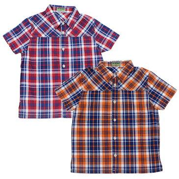 【春夏】ボーイズ/120cm~160cm/ZIPWORKSチェック/半袖Tシャツ/ジップワークス