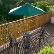 ガーデニング/ガーデンテーブルセット/テーブルセットローズ青銅色 パラソル付き/SGT-15VN/PS