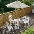 ガーデニング/ガーデンテーブルセット/テーブルセットローズ ホワイト6点セット/SGT-15WN/6S