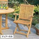 イス チェア 椅子 屋外 家具 チーク 折りたたみ SALE アウトレット タカショー / フォールディング アームチェアー チーク /B