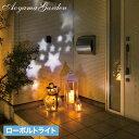 イルミ LED ライト 屋外 クリスマス 電飾 タカショー / ローボルト ガーデンモーションプロジェクター カセットタイプ /A