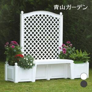 ガーデンベンチ コペンハーゲン ホワイト グレー