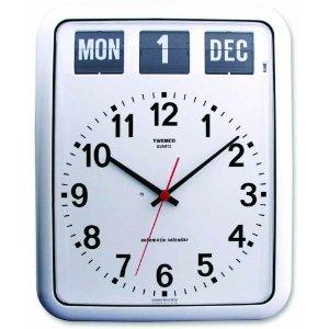[3点購入で5%OFFクーポン]TWEMCO社掛け時計BQ-12A[ホワイト] 送料無料